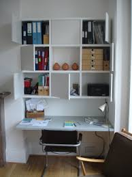 home office unit. Small Spaced Wall Unit With Desks Smalll White Table Cabinets For Storing Office Accessories Home O