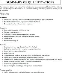 Resume Summary Example Adorable Resume Synopsis Examples Resume Sample Web