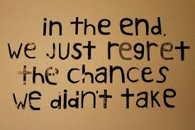 Regret Love Quotes Gorgeous In The End We Just Regret The Chances We Didn't Take €� Mistake