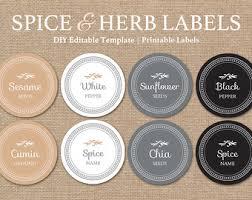Decorative Spice Jars Editable Spice Jar Labels DIY Printable Kitchen Labels 92