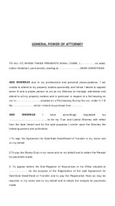 Yeah, i'd recommend talking to the content provider. General Power Of Attorney Form Indian Inhabitant Download Printable Pdf Templateroller