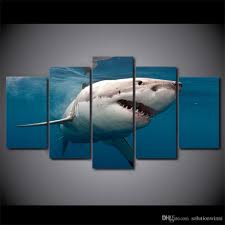 great white shark painting. Perfect Great 2018 Great White Shark Canvas Paintings Home Decor Wall Art Framed Posters  Hd Prints Pictures Painting From Solutionwinni 3661  DhgateCom Intended A