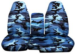 ford ranger 60 40 blue camo seat covers