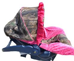 custom hunting camo and pink infant car seat cover our kids car