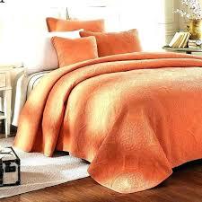 burnt orange bedspread bedding coverlet bedspreads king brown comforter sets