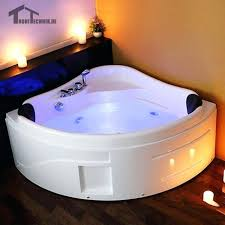 whirlpool corner bathtub whirlpool spa massage wall corner bathtub freestanding glass acrylic triangular shower 2 person whirlpool corner bathtub
