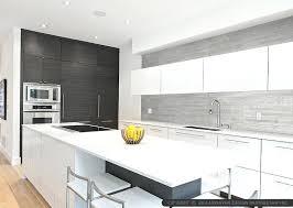 Modern Kitchen Backsplash With White Cabinets Modern Gray Long