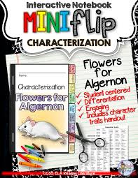 flowers for algernon pre reading guide anticipation multiple flowers for algernon interactive notebook characterization mini flip