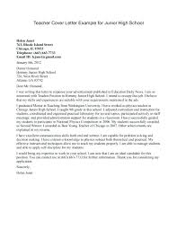 Cover Letter Examples High School Student Cover Letter For High