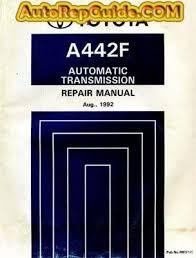 Download free - Toyota Automatic Transmission A442F repair manual ...