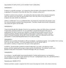 Free Reference Letter General Of Recommendation Sample For