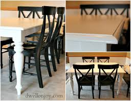 Refinishing A Kitchen Table A Completely Honest Diy Kitchen Table Refinish Dwell On Joy