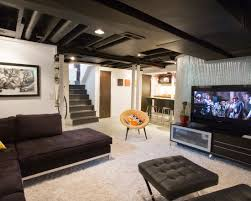 Attractive Unfinished Basement Design Ideas With Unfinished - Unfinished basement man cave ideas