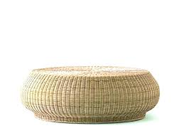 round rattan coffee table wicker beautiful with glass top sourc