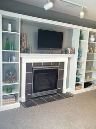 Living Room Bookcases Built In Faux Built In Billy Bookcase Ikea Hack Hearthavenhome
