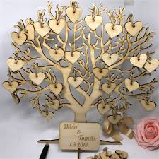 Sign Book For Wedding Us 18 04 5 Off Family Tree Wedding Guest Book 3d Wooden Guest Sign Book Rustic Wedding Party Decorations In Signature Guest Books From Home