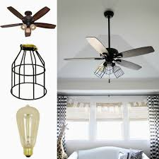 ceiling fan for kitchen with lights. Crazy Wonderful: DIY Cage Light Ceiling Fan For Kitchen With Lights N