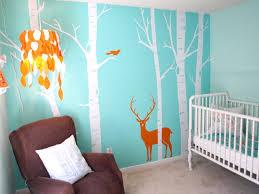 Orange And Teal Bedroom Nursery Wall Mural Ideas Wwwharstans Jewelerscom