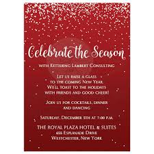 Corporate Holiday Party Invite Holiday Party Invitation 2 Celebrate The Season Red Silver Gray White Falling Snow