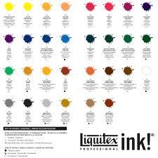 Liquitex Professional Acrylic Ink 30ml Colour Chart