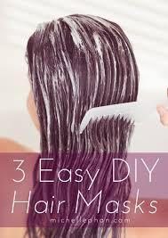 3 easy diy hair masks for dry damaged hair