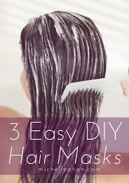 3 easy diy hair masks for dry damaged hair
