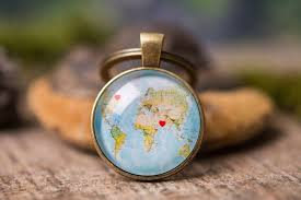 personalized gift long distance relationship gift custom map keychain boyfriend gift friend gift gift for men gift for him her