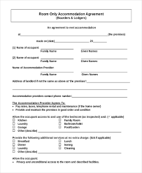 Room For Rent Contract Rent A Room Agreement Template Free Sample Room For Rent Contract 13
