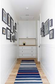 a built in cabinet could have enough space for a linen storage a gallery