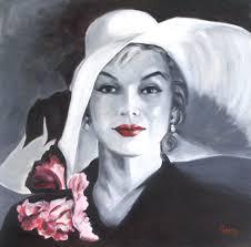 marilyn 20x20 oil portrait on canvas