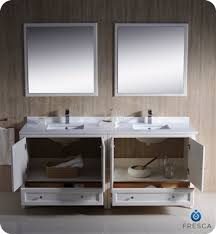 Traditional double sink bathroom vanities Antique White List Price 316926 Bathroom Shower Toilet Accessories Shop Fresca Oxford 72