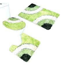green bath rugs rug microfiber 3 piece mat set pedestal lid toilet hunter bathroom furniture s