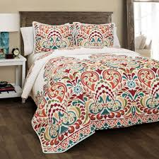 Best 25+ Bedding sets ideas on Pinterest | Boho comforters ... & Instantly brighten any room with this Tangerine Clara King Quilt Set. Its  multicolor damask pattern pops against its white background for a vibrant  effect! Adamdwight.com