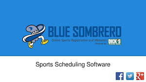 Sports Scheduling Software From Blue Sombrero