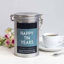 tin wedding anniversary gifts
