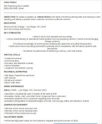 bank teller resume with no experience resume for bank teller