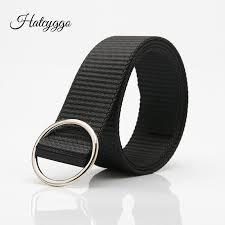 <b>HATCYGGO</b> 2018 Unisex <b>Canvas Belts</b> Students Ring Buckle Waist ...