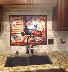 Mural Tiles For Kitchen Decor Louisiana Kitchen Tile Backsplash Cajun Art Tiles