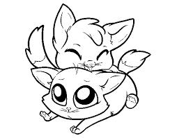 Disegno Di Due Gattini Da Colorare Acolorecom