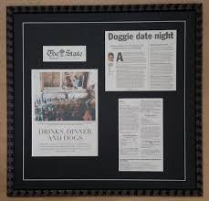 – Columbia Shop Framed Newspaper Article Frame
