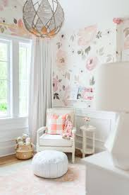 Pink And White Wallpaper For A Bedroom 17 Best Ideas About Nursery Wallpaper On Pinterest Baby Nursery