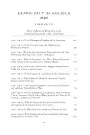 democracy in america historical critical edition vol online  original table of contents or first page