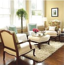 Decorations : Great Looking Small Lounge Living Room Design With Cream  Single Sofa And White Fur Rug On Wooden Flooring Idea Simple Guidelines for  Lounge ...