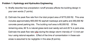 Solved: Problem 1: Hydrology And Hydraulics Engineering 1 ...