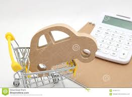 Home Mortgage Finance Calculator Miniature House Shopping Cart And Calculator On White Background