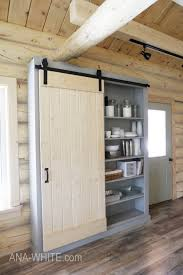 build a barn door cabinet or pantry free plans by ana white