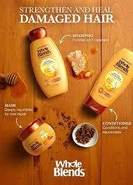 damaged hair try garnier s new whole blends repairing honey treasures the sh