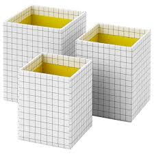 hejsan pen cup set of 3 yellow white package quantity 3 pack