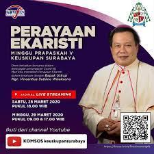Jadwal misa live streaming (selama pekan suci)misa harian senin & rabu pekan suci: Berikut Jadwal Gereja Katolik Santo Yakobus Surabaya Facebook