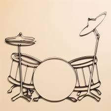 >drumset metal wall art at the music stand drumset metal wall art